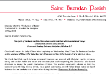 snapshot of letter to parish
