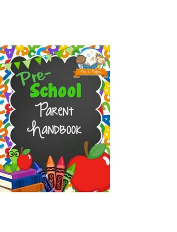 Preschool Handbook with ABC's and 123's on border