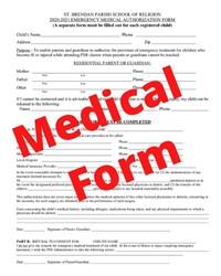 medical form copy