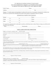 PSR Medical Form