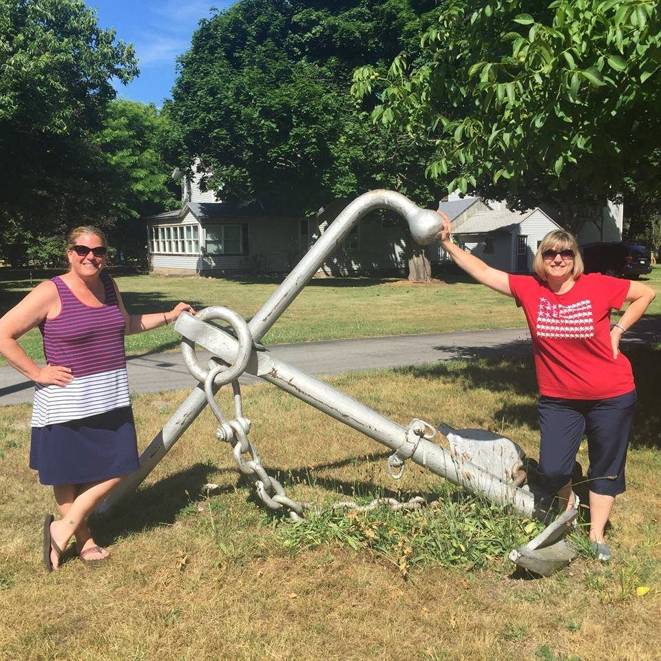 Some faculty found an anchor while on summer vacation.