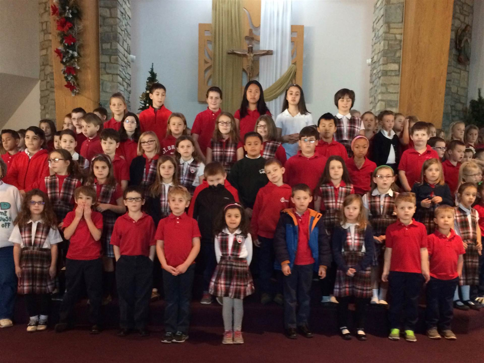 Students practice for the annual Christmas Program