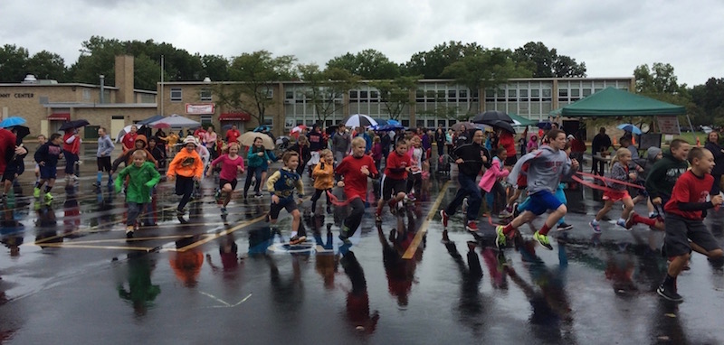 annual walk-a-thon, as kids race to start
