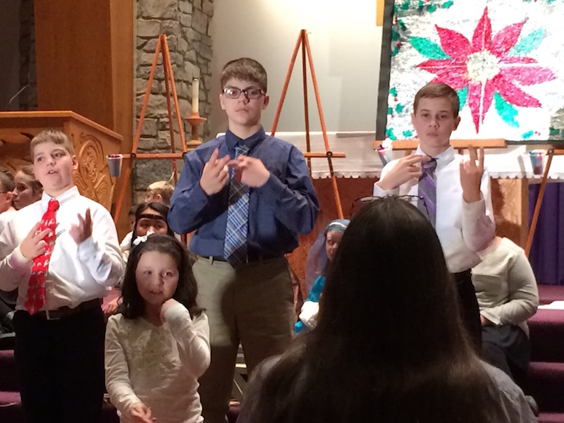 Sign Language club performs at the annual Christmas Program