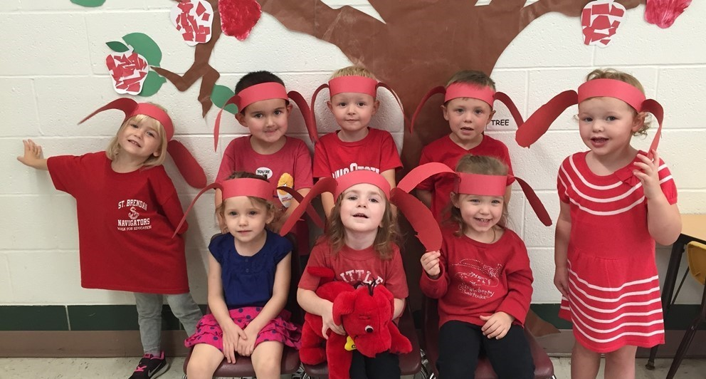 Preschool shows their Clifford ears