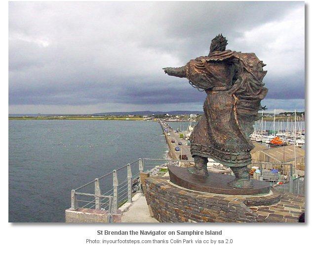 St. Brendan Statue in Ireland