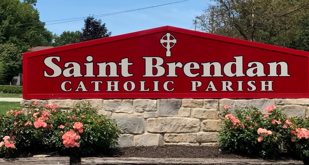 St. Brendan Parish Street sign