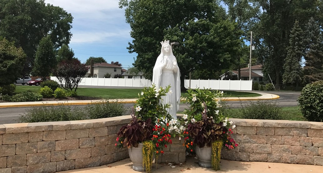 Our blessed Mother Mary in the St. Brendan Parish prayer garden