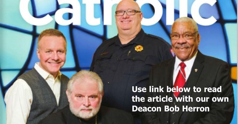 Photo of cover of NEO Catholic Magazine of 4 Deacons