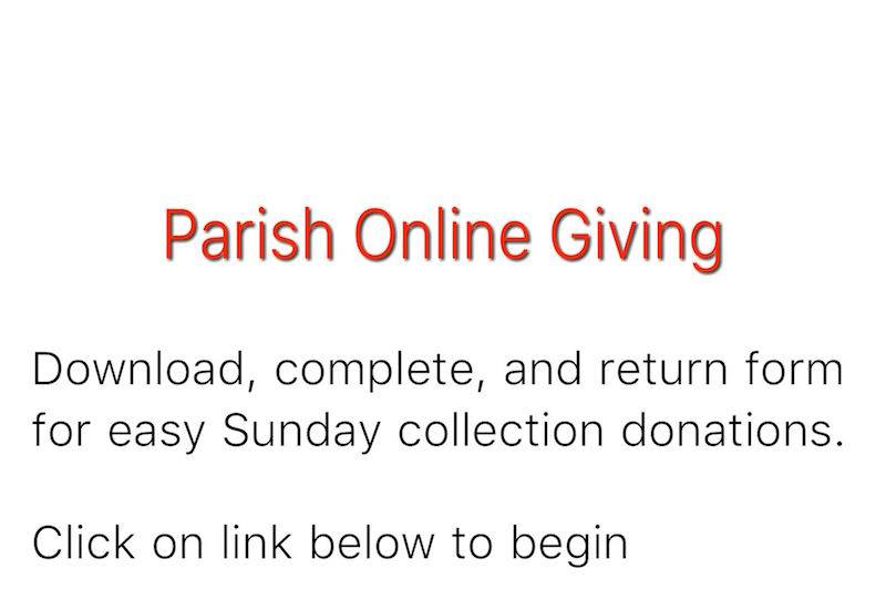 reads: Download, complete and return form for easy Sunday collection donations