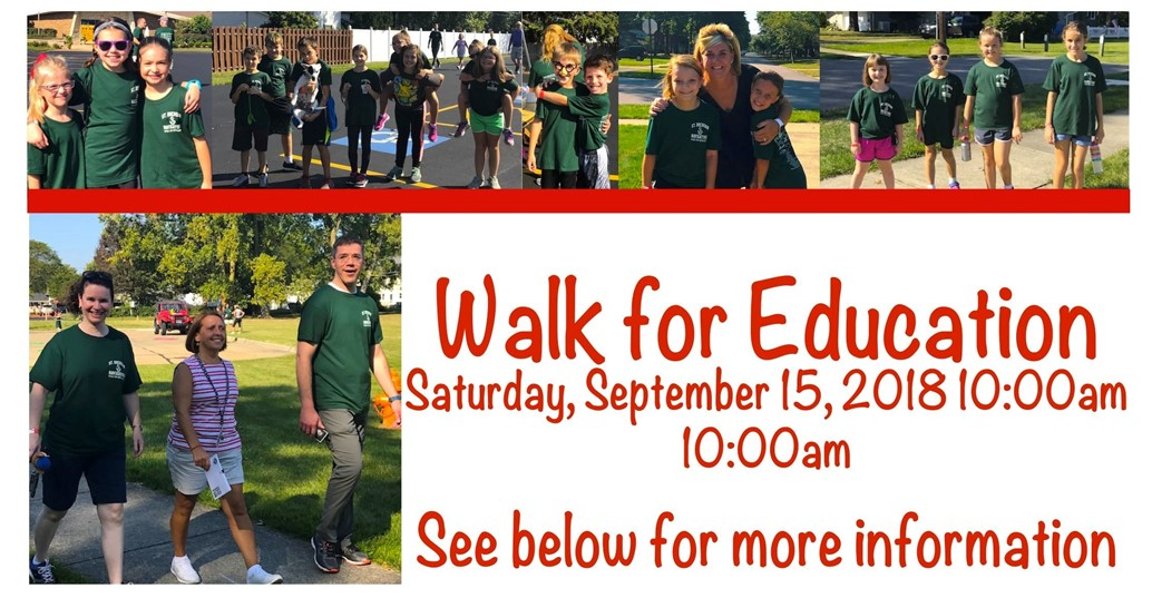 Walk for Education saturday september 15, 2018 10am