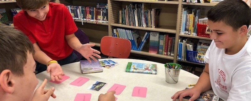 students play memory game to learn landmarks