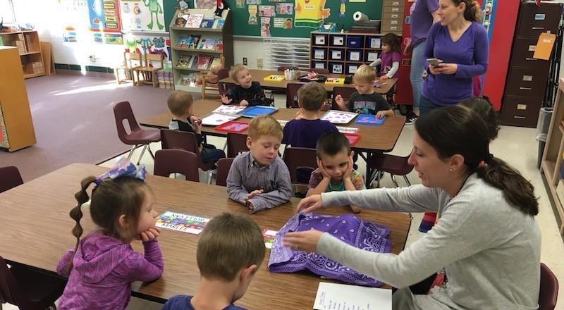 purple day in preschool