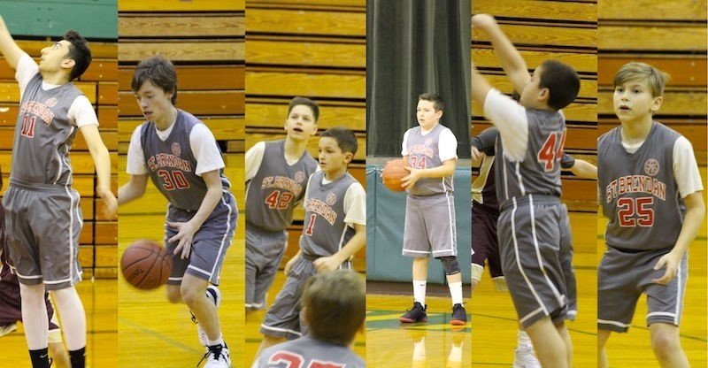7th and 8th grade boys basketball collage