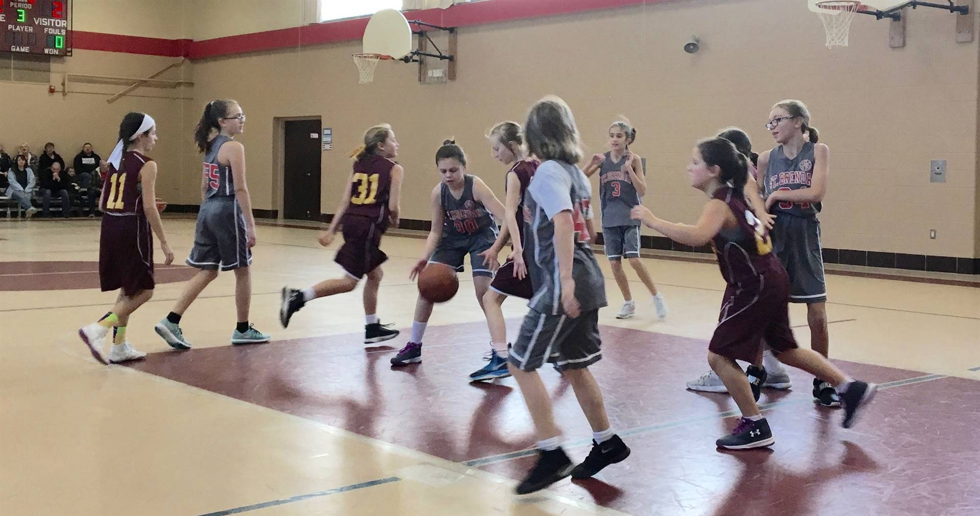 5th grade girls basketball game