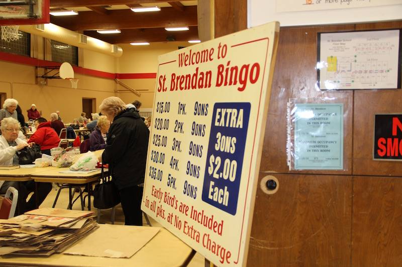 Welcome to St. Brendan Bingo sign