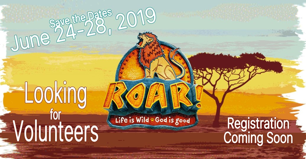 Vacation Bible School save the dates: June 24-28
