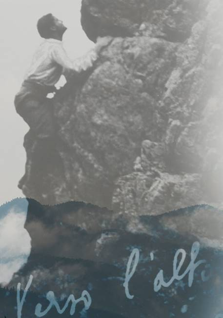Blessed Pier Giorgio Frasatti climbing a mountain take from his website
