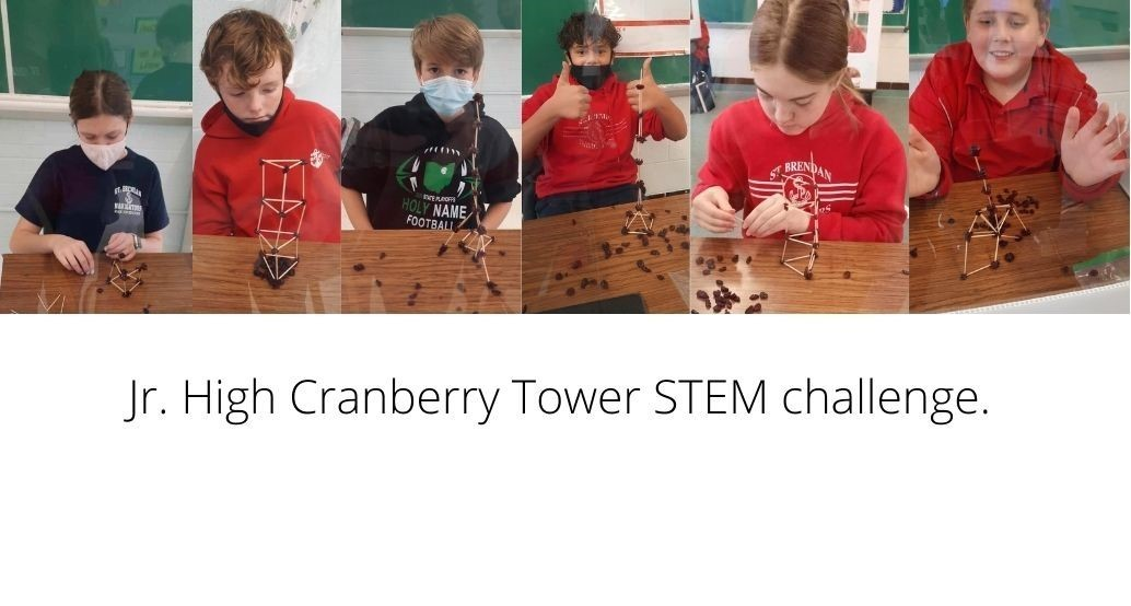 jr high cranberry tower challenge students created towers with dried cranberries and toothpicks