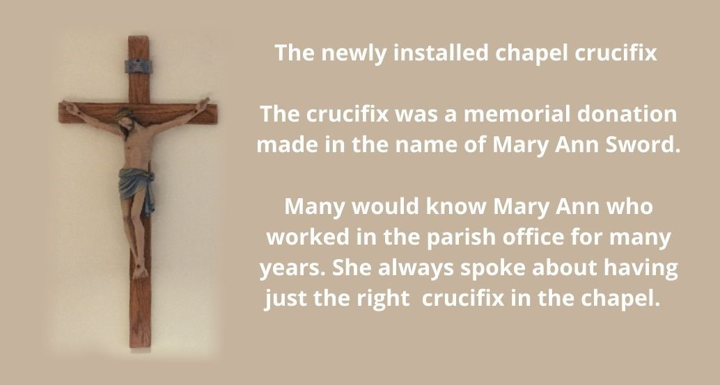 new chapel cross donated in memorial of mary ann sword