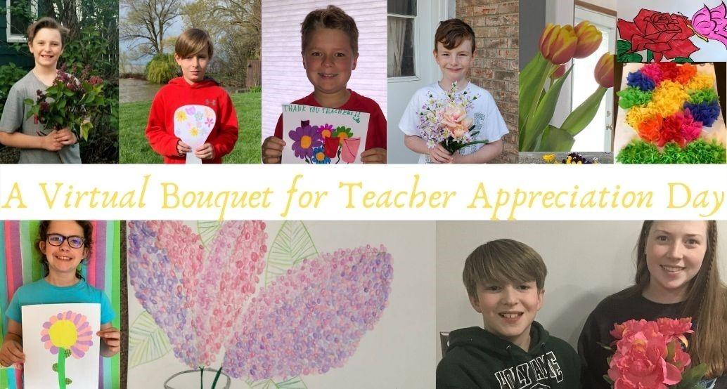 a virtual bouquet for teacher appreciation week