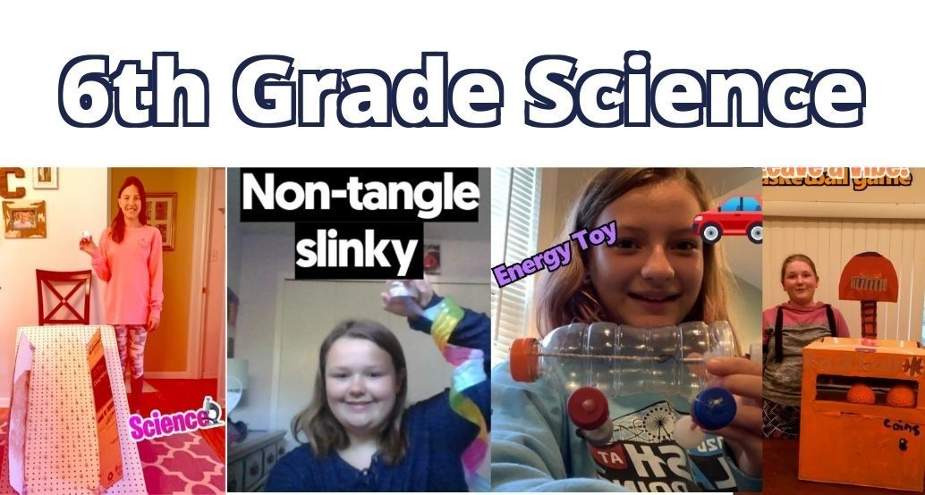 girls show off their science projects