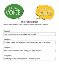 sample reading voice page