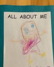 student self portrait drawing
