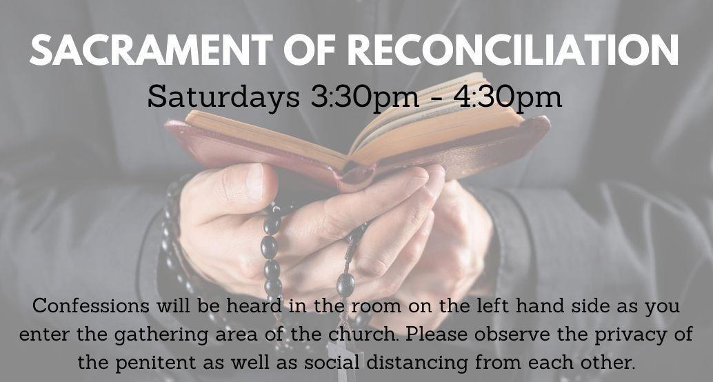 reconciliation saturdays 3:30-4:30
