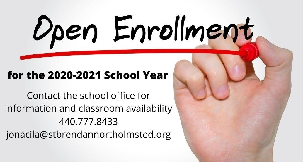 open enrollment call office for availability 4407778333 (picture of a hand underlining open enrollment in a red marker)