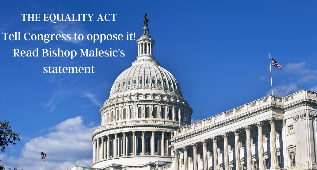 Tell Congress to oppose equality act! Read Bishop Malesic's statement