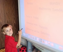 Kindergarten work on the ActivBoard