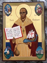drawing rendition of St. Brendan