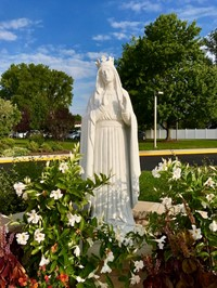 prayer garden statue of our lady of knock