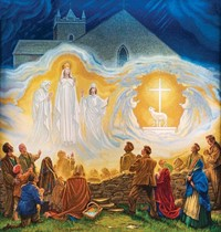 apparition depiction of our lady of knock